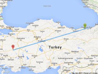 Uşak Trabzon Otobüs Seferleri